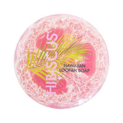 Hibiscus exfoliating loofah soap, 4.75 oz, Maui Soap Company